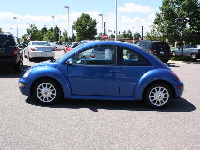 volkswagen new beetle 2004 blue hatchback gls tdi diesel 4 cylinders