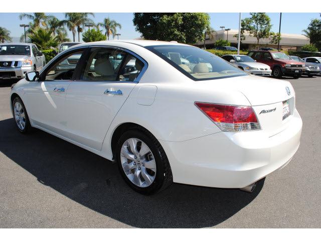 honda accord 2009 white sedan ex l v6 gasoline 6 cylinders. Black Bedroom Furniture Sets. Home Design Ideas