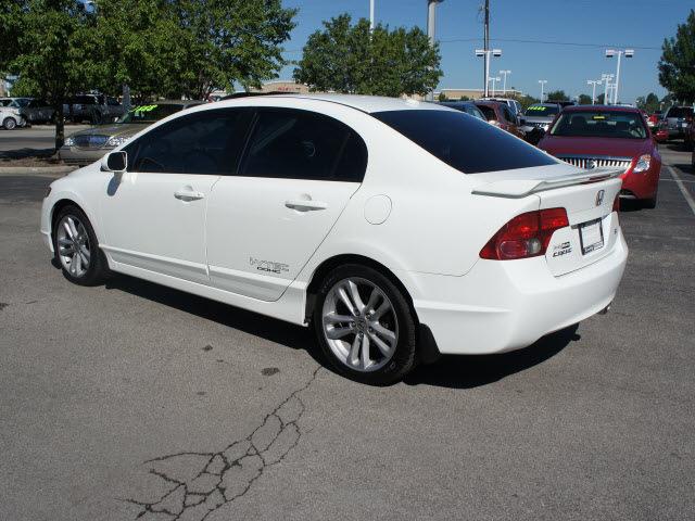 honda civic 2007 white sedan si w navi gasoline 4 cylinders front wheel drive 6 speed manual. Black Bedroom Furniture Sets. Home Design Ideas