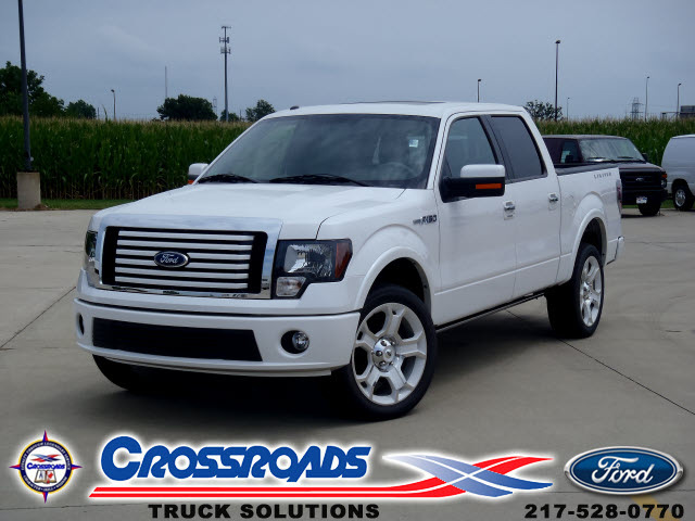 ford f 150 2011 white lariat limited gasoline 8 cylinders 4 wheel drive automatic 62708 ford f. Black Bedroom Furniture Sets. Home Design Ideas