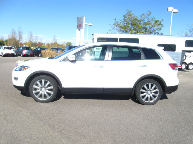 mazda cx 9 2009 white suv gasoline 6 cylinders all whee. Black Bedroom Furniture Sets. Home Design Ideas