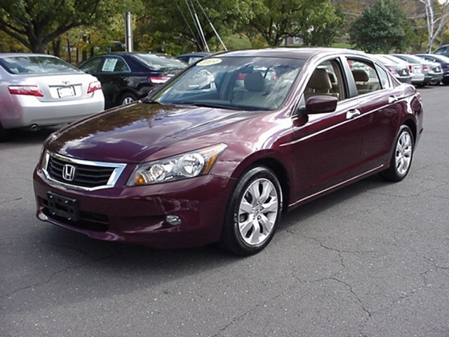 Honda accord 2009 burgundy sedan ex l v6 gasoline 6 for Burgundy honda accord