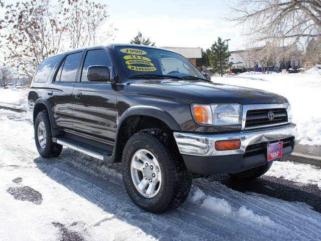toyota 4runner 1998 gray suv sr5 4x4 auto gasoline 6 cylinders 4 wheel drive automatic with. Black Bedroom Furniture Sets. Home Design Ideas