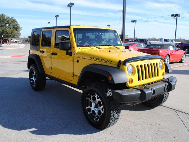 jeep wrangler unlimited 2008 yellow suv rubicon gasoline 6. Black Bedroom Furniture Sets. Home Design Ideas