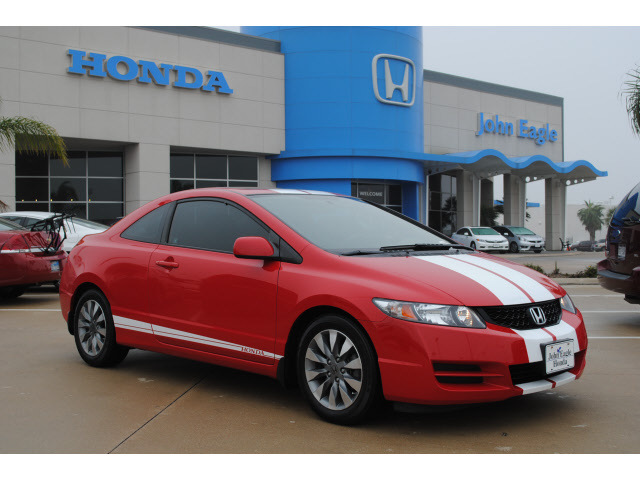 honda civic 2009 red coupe ex gasoline 4 cylinders front wheel drive automatic 77065 honda. Black Bedroom Furniture Sets. Home Design Ideas