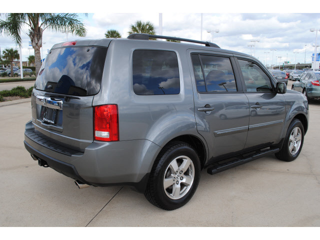 honda pilot 2009 gray suv ex l gasoline 6 cylinders front wheel drive 5 speed automatic 77065. Black Bedroom Furniture Sets. Home Design Ideas