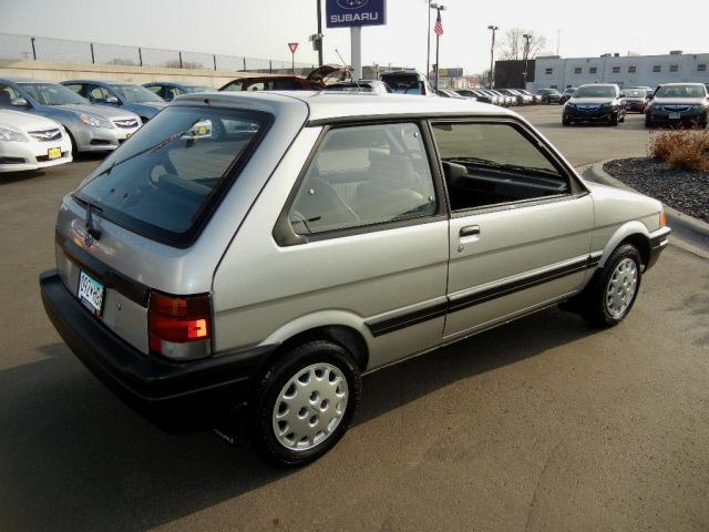 Subaru Front Wheel Drive : Subaru justy silver hatchback gl gasoline cylinders