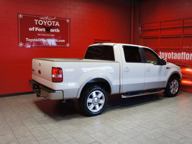 ford f 150 2008 white king ranch flex fuel 8 cylinders 2 wheel drive automatic with overdrive. Black Bedroom Furniture Sets. Home Design Ideas