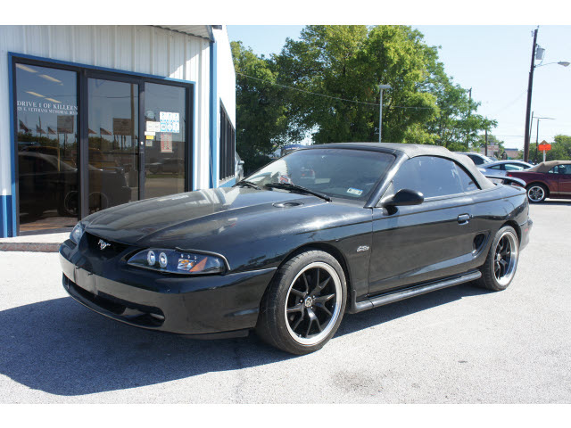 ford mustang 1998 black gt gasoline v8 rear wheel drive 5. Black Bedroom Furniture Sets. Home Design Ideas