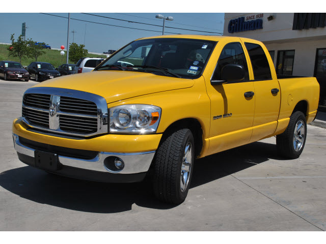dodge ram 1500 2007 yellow pickup truck lonestar edition flex fuel 8 cylinders rear wheel drive. Black Bedroom Furniture Sets. Home Design Ideas