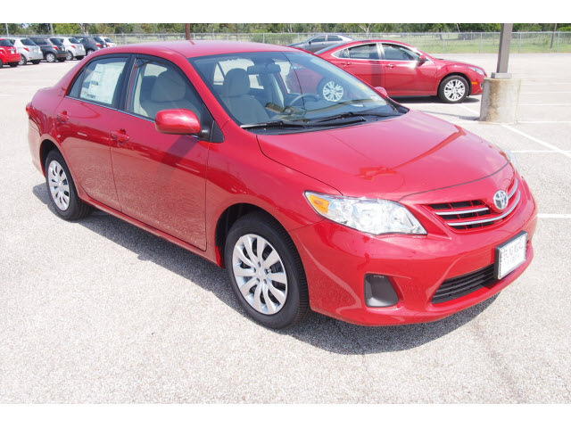 toyota corolla 2013 red sedan le gasoline 4 cylinders front wheel drive automatic 77074 toyota. Black Bedroom Furniture Sets. Home Design Ideas