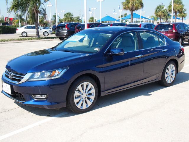 Honda Accord 2013 Obsidian Blue Pearl Sedan Ex L Gasoline