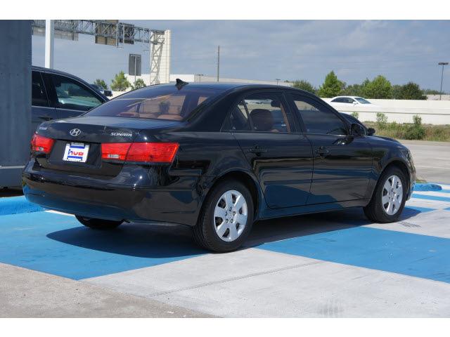 Hyundai Sonata 2009 Black Sedan Gls 4 Cylinders Automatic