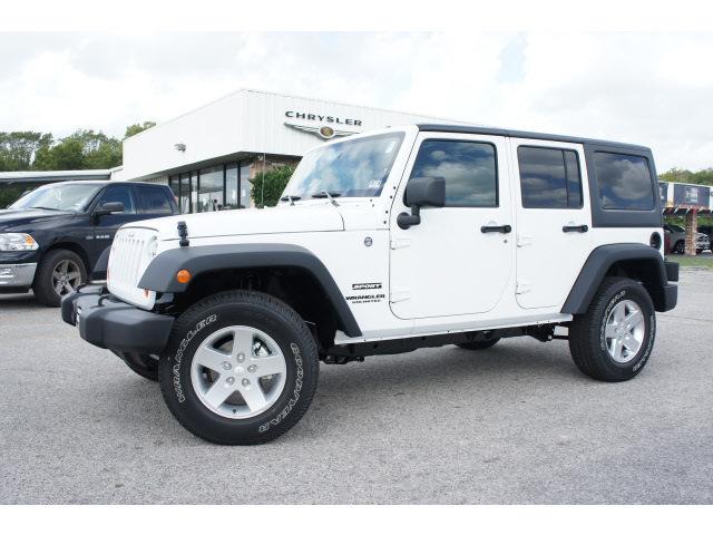 Jeep Wrangler Unlimited 2013 White Suv Sport Gasoline 6