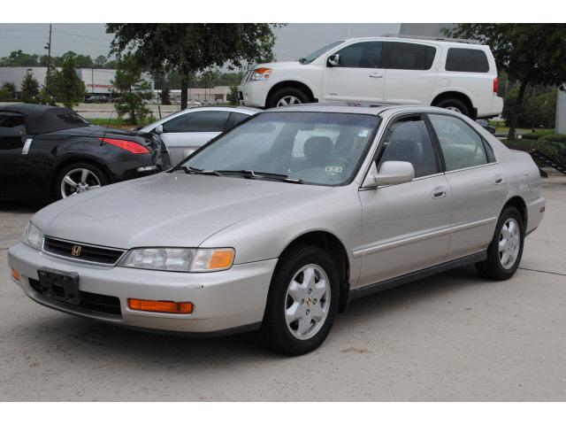 honda accord 1997 tan sedan ex v6 v6 automatic 77090 honda accord