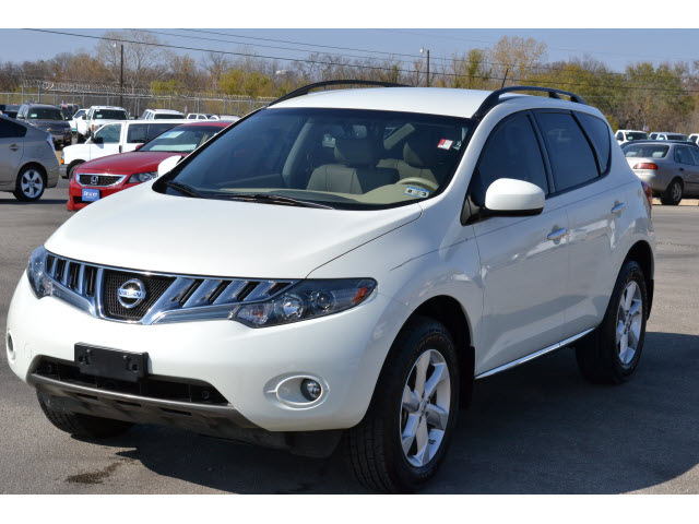 nissan murano 2009 off white suv sl gasoline 6 cylinders front wheel drive automatic 76801. Black Bedroom Furniture Sets. Home Design Ideas