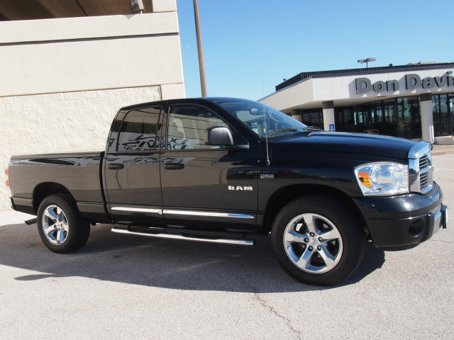 Dodge Ram 1500 2008 Black Pickup Truck Laramie Gasoline 8