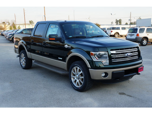 ford f 150 2013 green gem king ranch gasoline 6 cylinders 4 wheel drive automatic 77375 ford f. Black Bedroom Furniture Sets. Home Design Ideas