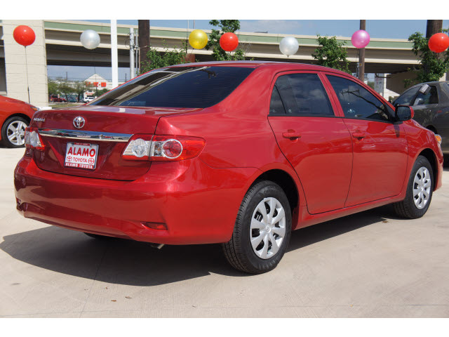 toyota corolla 2013 red sedan l gasoline 4 cylinders front wheel drive automatic 78232 toyota. Black Bedroom Furniture Sets. Home Design Ideas