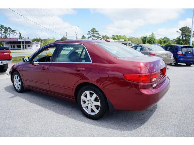honda accord 2005 red sedan ex v 6 gasoline 6 cylinders front wheel ...