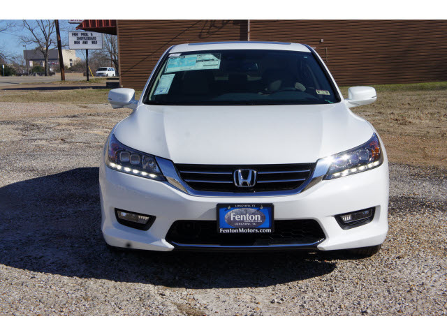 Honda accord 2014 white sedan touring 6 cylinders for 2014 honda accord white