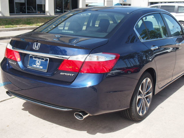 honda accord 2014 blue sedan sport gasoline 4 cylinders. Black Bedroom Furniture Sets. Home Design Ideas